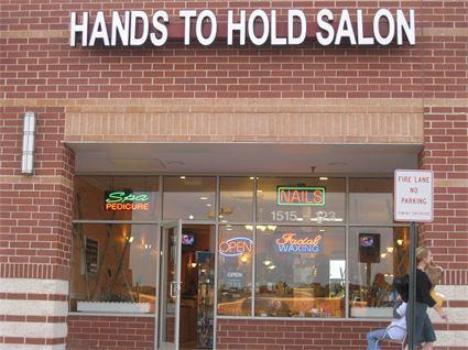 Hands to Hold Nail and Spa